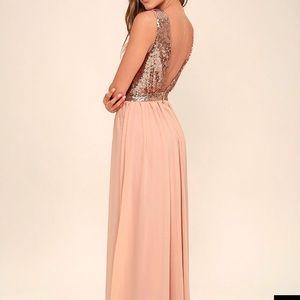 Maxi rose gold dress